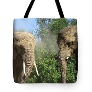 Elephants In The Sand Tote Bag