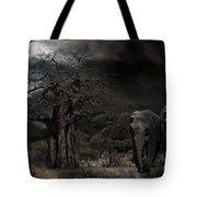 Elephants Of The Serengeti Tote Bag