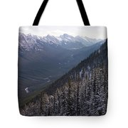 Elevated View Down U-shaped Valley Tote Bag