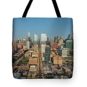 Elevated View Of Cityscape, Lake Street Tote Bag