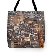 Elevated View Of Florence Tote Bag
