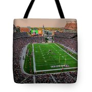 Elevated View Of Gillette Stadium, Home Tote Bag