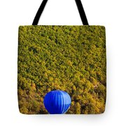 Elevated View Of Hot Air Balloon Tote Bag
