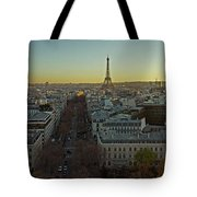 Elevated View Of Paris From Arc De Tote Bag