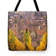 Elevated View Of The Riquewihr Tote Bag