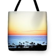 Elevated View Of The Sunset Tote Bag