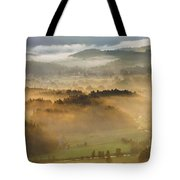 Elevated View Of Trees On Hill Tote Bag