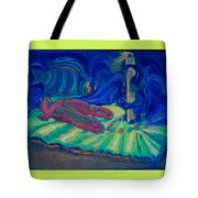 Elf And His Magical Slippers Tote Bag