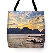 Elgol Beach At Sunset Tote Bag