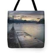 Elgol Pier And Boats With Cuillin Tote Bag