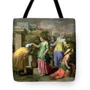Eliezer And Rebecca At The Well Tote Bag