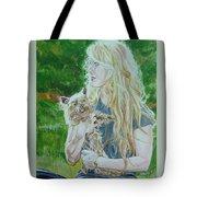 Elizabeth South And Ginger Tote Bag