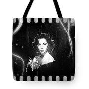Elizabeth Taylor - Black And White Film Tote Bag by Absinthe Art By Michelle LeAnn Scott