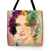 Elizabeth Taylor Tote Bag by Mark Ashkenazi