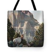 Elk At Cathedral Rock Tote Bag