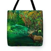 Elk Fall Tote Bag