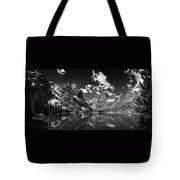Elk Lake Panorama 3bw Tote Bag