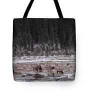 Elk Landscape Tote Bag
