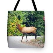 Elk Right Of Way Tote Bag