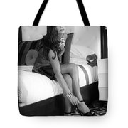 Raquel Bw Palm Springs Tote Bag