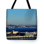 Elliot Bay Panorama Tote Bag