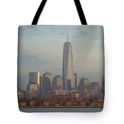 Ellis Island And The Freedom Tower Tote Bag