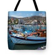 Elounda Harbour Tote Bag