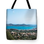 Elounda Town Tote Bag by Luis Alvarenga
