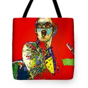 Elton In Red Tote Bag