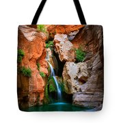 Elves Chasm Tote Bag by Inge Johnsson