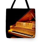 Elvis' Gold Piano Tote Bag