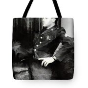 Elvis In Uniform Tote Bag
