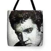 Elvis Love Me Tender Mosaic Tote Bag
