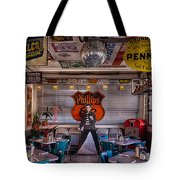 Elvis Presley At Albuquerque's 66 Diner Tote Bag