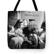 Elvis Presley Hugging Fans 1956 Tote Bag