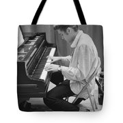 Elvis Presley On Piano While Waiting For A Show To Start 1956 Tote Bag