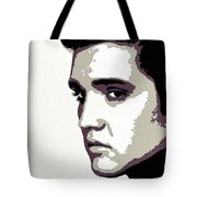 Elvis Presley Portrait Art Tote Bag