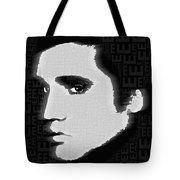 Elvis Presley Silhouette On Black Tote Bag