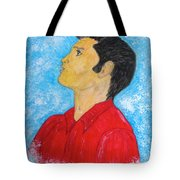 Elvis Presley Singing Tote Bag