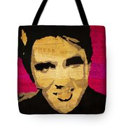 Elvis Singing The Blues Tote Bag