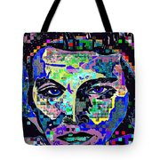 Elvis The King Abstract Tote Bag