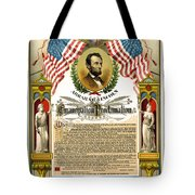 Emancipation Proclamation Tribute 1888 Tote Bag