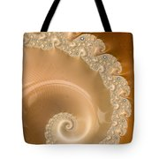 Embellished Blond Wood Tote Bag