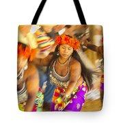 Embera Villagers In Panama Tote Bag