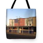 Emblazoned American Flag Silver Dollar Bar Eloy Arizona 2004 Tote Bag