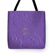 Embossed Bouquet  Tote Bag