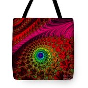 Embroidered Silk And Beaded Square Tote Bag