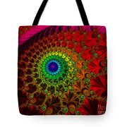 Embroidered Silk And Beads - Horizontal Tote Bag