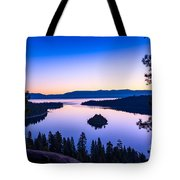 Emerald Bay Sunrise Tote Bag