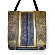 Emerald Buddha Temple Door Tote Bag